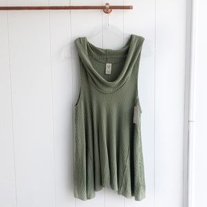 NWT Free People Swing It Cowl Neck Tank Top